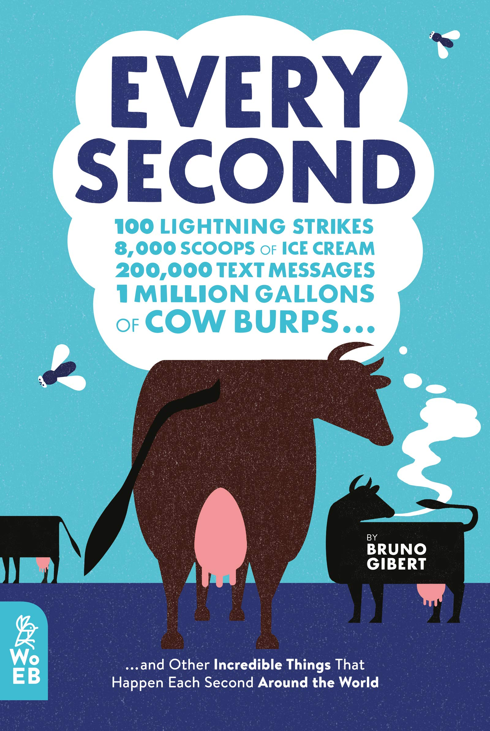 Every Second: 100 Lightning Strikes, 8,000 Scoops of Ice Cream, 200,000 Text Messages, 1 Million Gallons of Cow Burps ... and Other Incredible Things That Happen Each Second Around the World